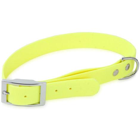 Colla Biothane para perro   Collar de perro neón 50 cms  Collar de perro resistente