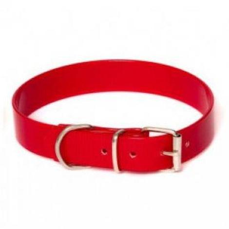 Colla Biothane para perro   Collar de perro rojo 50 cms  Collar de perro resistente
