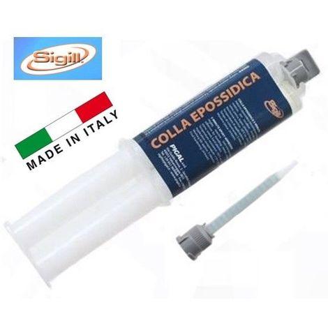 """COLLA EPOSSIDICA EXTRA FORTE 25ml CON SIRINGA DOSATORE """" SIGILL """" MADE IN ITALY"""