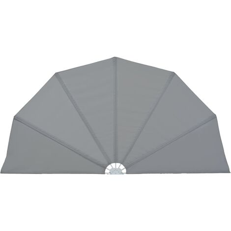 Collapsible Terrace Side Awning Grey 160 cm