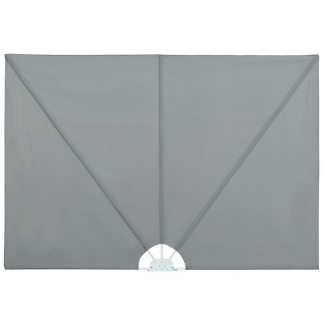 Collapsible Terrace Side Awning Grey 300x150 cm