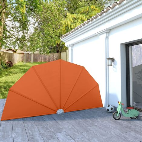 Collapsible Terrace Side Awning Terracotta 200 cm