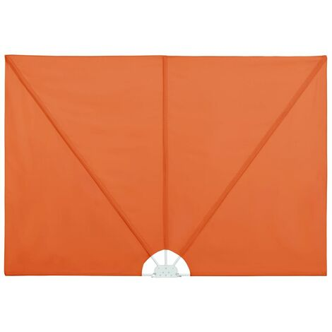 Collapsible Terrace Side Awning Terracotta 400x200 cm