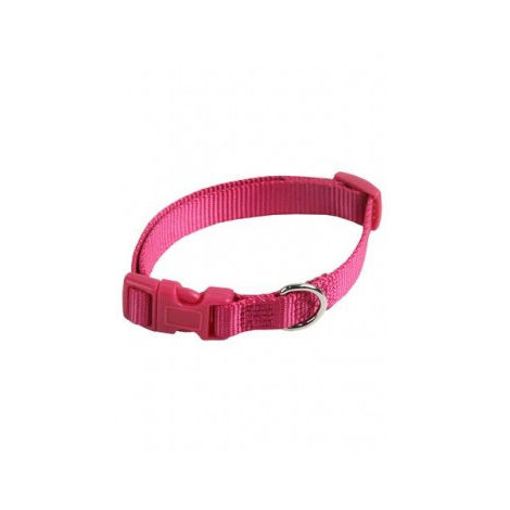 Collar ajustable nylon 10mmx20-30cm, rosa