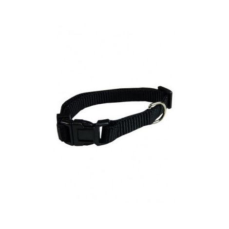 Collar ajustable nylon 15mmx33-40cm, negro