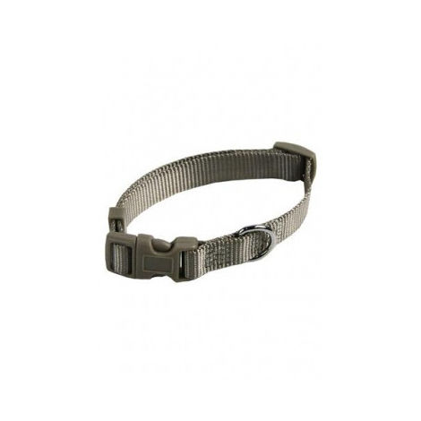 Collar ajustable nylon 20mmx40-55cm, gris
