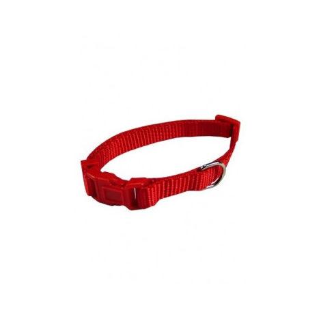 Collar ajustable nylon 25mmx48-70cm, rojo