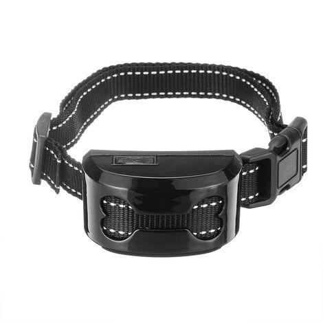 Collar antiladridos para mascotas Sensibilidad Impermeable Carga USB Negro