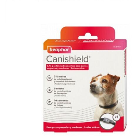 Collar Antiparasitario CANISHIELD para perros Razas Pequeñas - Deltametrina de Triple Protección Flebotomos, Garrapatas y Pulgas - 1 collar 48 cm