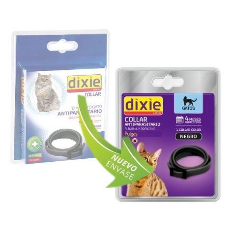 Collar antiparasitario DIXIE para gatos anti pulgas y garrapatas