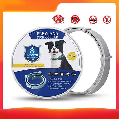 Collar antiparasitario para mascotas, collar antipulgas para pulgas y garrapatas,62cm