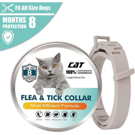 Collar antipulgas, para gatos Prevencion de pulgas y garrapatas de 8 meses, 1 piezas