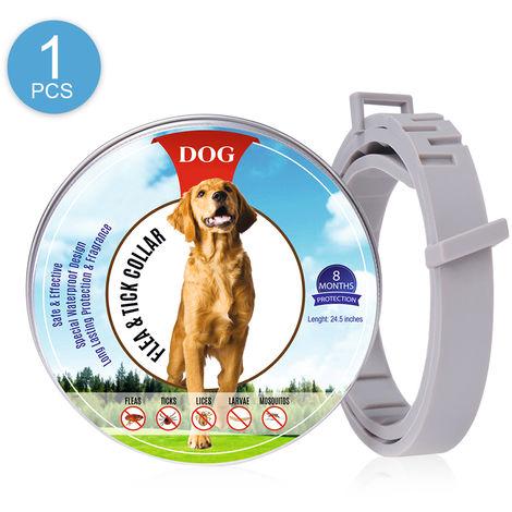 Collar antipulgas, para perros Prevencion de pulgas y garrapatas de 8 meses, 1 pieza