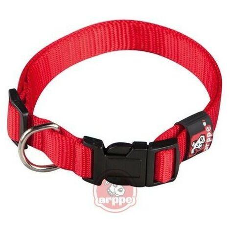 Collar ARPPE NYLON BASIC ROJO 46-62 CM