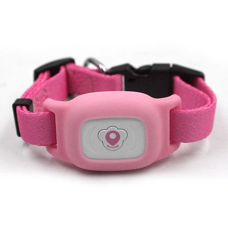 Collar con rastreador GPS para mascotas Intelligence, ROSA