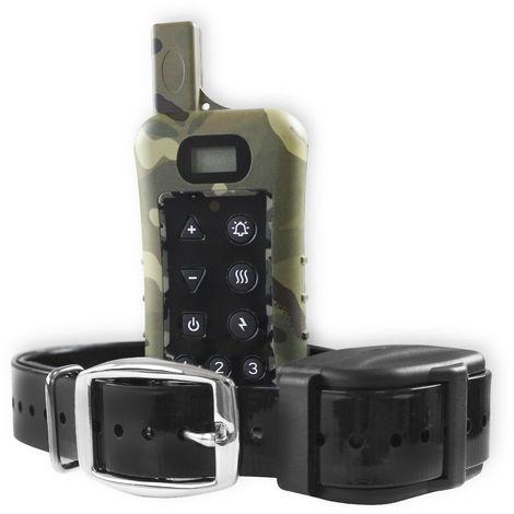 Collar de adiestramiento de caza sumergible Yatek, 3200 metros de alcance, 10 niveles de estimulación y vibración, controla hasta 3 perros a la vez