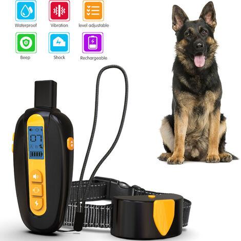 Collar de adiestramiento para perros, Collar de choque para perros recargable Impermeable, con vibracion de pitido