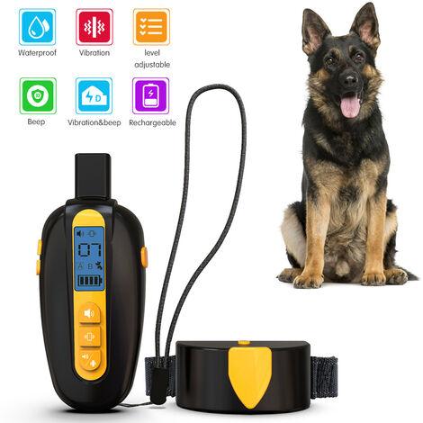 Collar de entrenamiento collar de perro impermeable recargable con Bip Bip vibracion y vibracion 8, el modo de vibracion ajustable Nivel