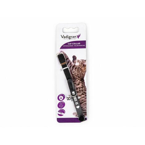 Collar de gato. MI JEFE ES. negro. 20-30cm x 10mm.