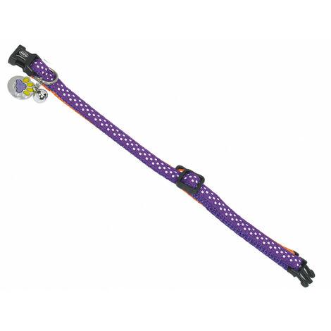 Collar de gato. POIS púrpura .20-30cm x 10mm.
