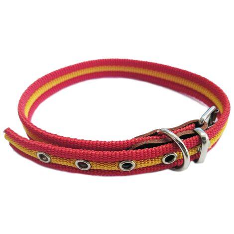 Collar de perro bandera de España   Collar de perro de algodón   Collar 25 cms