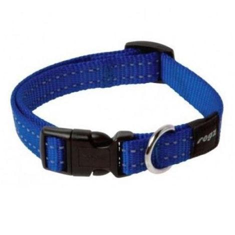 Collar de perro | Collar de nailon para perro | Collar de perro azul talla L