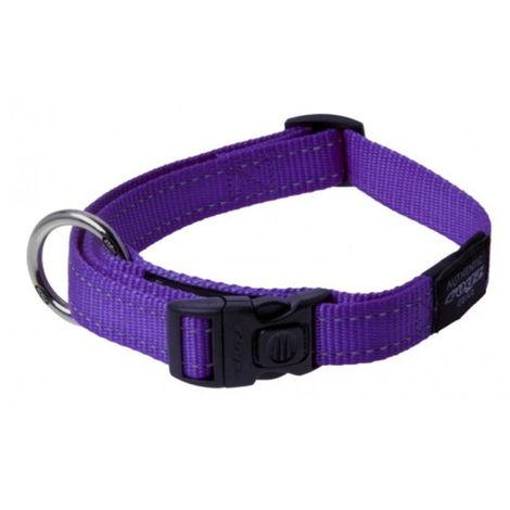 Collar de perro | Collar de nailon para perro | Collar de perro morado talla L