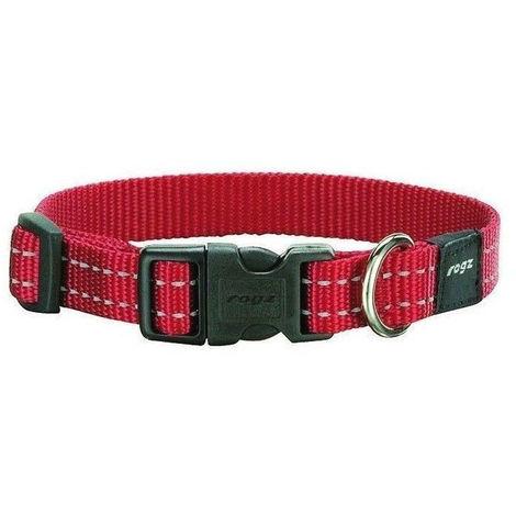 Collar de perro | Collar de nailon para perro | Collar de perro rojo talla XL