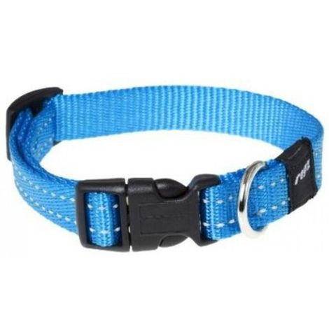 Collar de perro   Collar de nailon para perro   Collar de perro turquesa talla M