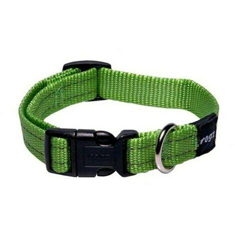 Collar de perro | Collar de nailon para perro | Collar de perro verde talla L