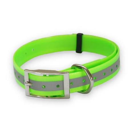 Collar de Poliuretano Reflectante para perros fuertes y resistentes, disponible en varios colores y medidas