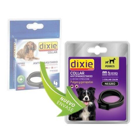 Collar DIXIE para perros anti pulgas y garrapatas (58 cm) Negro