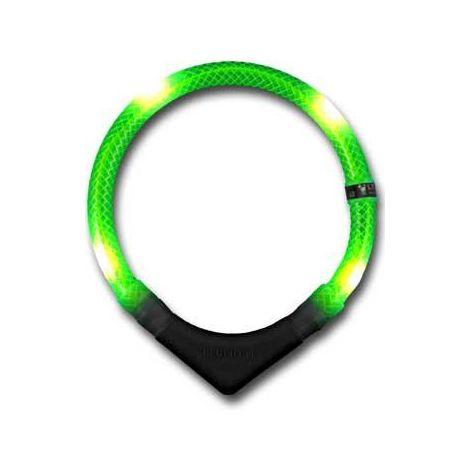 Collar luminoso leuchtie premium verde