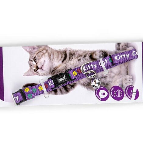 Collar para gatos KITTY púrpura 16-25cm x 8mm
