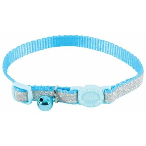 Collar para gatos ZOLUX - Azul - Nylon - Ajustable - 520022BLE