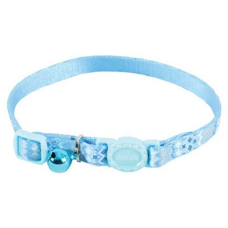 Collar para gatos ZOLUX - Azul - Nylon - Ajustable - 520025BLE