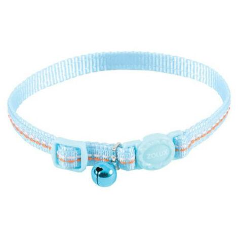 Collar para gatos ZOLUX - Azul - Nylon - Ajustable - 520031BLE