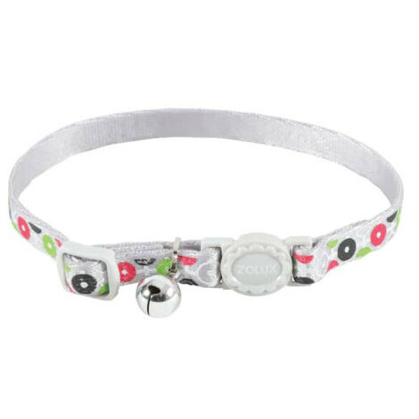 Collar para gatos ZOLUX - Gris - Nylon - Ajustable - 520028GRI
