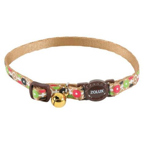 Collar para gatos ZOLUX - Marrón - Nylon - Ajustable 520028CHO