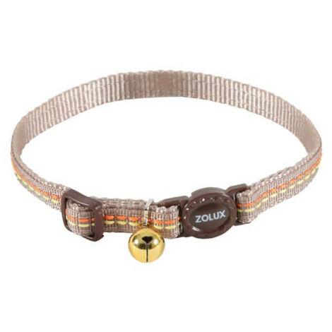 Collar para gatos ZOLUX - Marrón - Nylon - Ajustable - 520031CHO