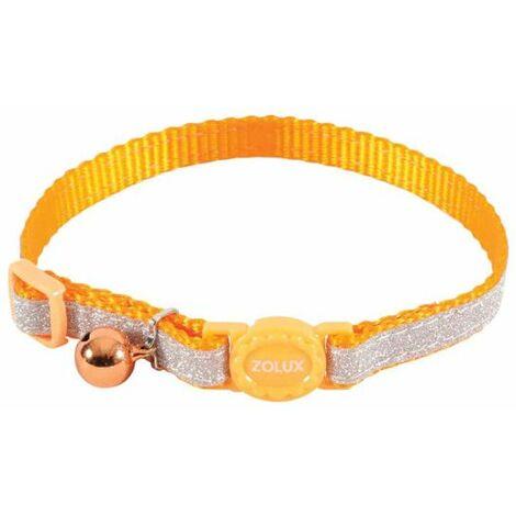 Collar para gatos ZOLUX - Naranja - Nylon - Ajustable - 520022ORA