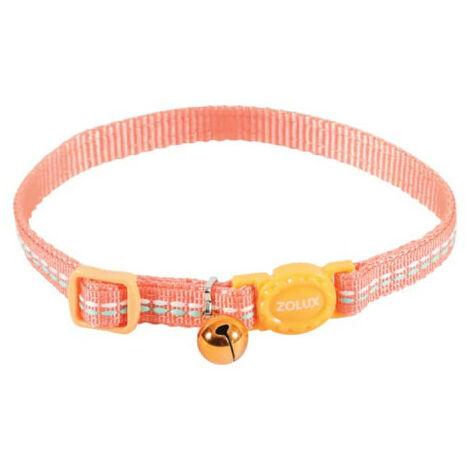 Collar para gatos ZOLUX - Naranja - Nylon - Ajustable - 520031ORA