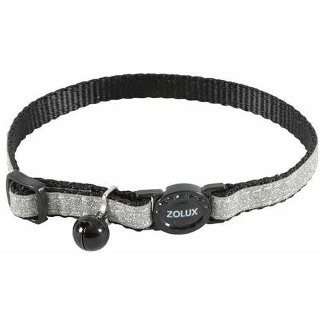 Collar para gatos ZOLUX - Negro - Nylon - Ajustable - 520022NOI