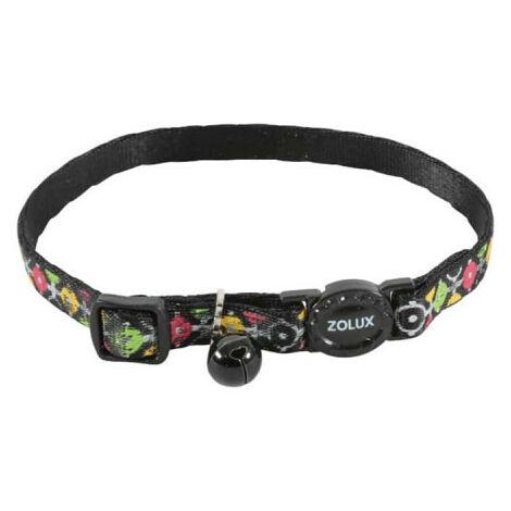 Collar para gatos ZOLUX - Negro - Nylon - Ajustable - 520028NOI