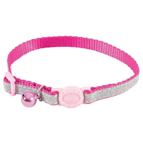 Collar para gatos ZOLUX - Rosa - Nylon - Ajustable - 520022ROS