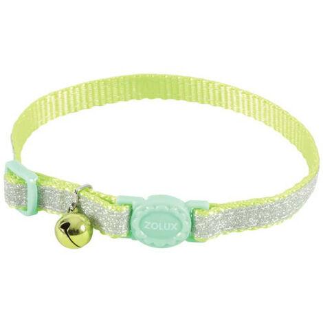 Collar para gatos ZOLUX - Verde - Nylon - Ajustable - 520022VER