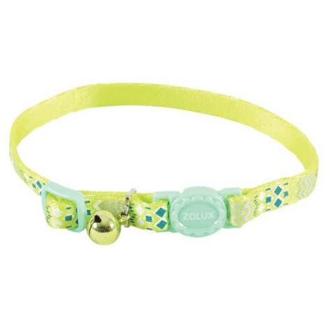 Collar para gatos ZOLUX - Verde - Nylon - Ajustable - 520025VER
