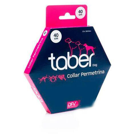 Collar permetrina Taberdog 40 cms | Collar contra pulgas y garrapatas para perros | Collas anti-pulgas