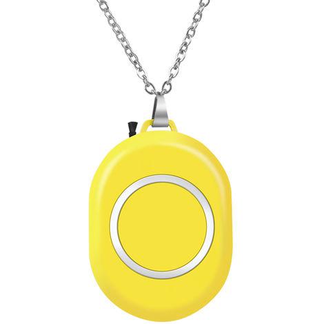 Collar portatil ionizador de purificador de aire purificador de aire portatil,Amarillo