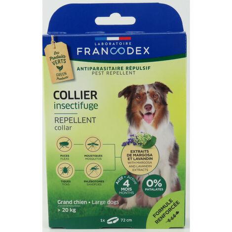 Collar repelente de insectos para perros de más de 20 kg. de longitud 72 cm.